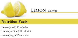 Lemon Calories