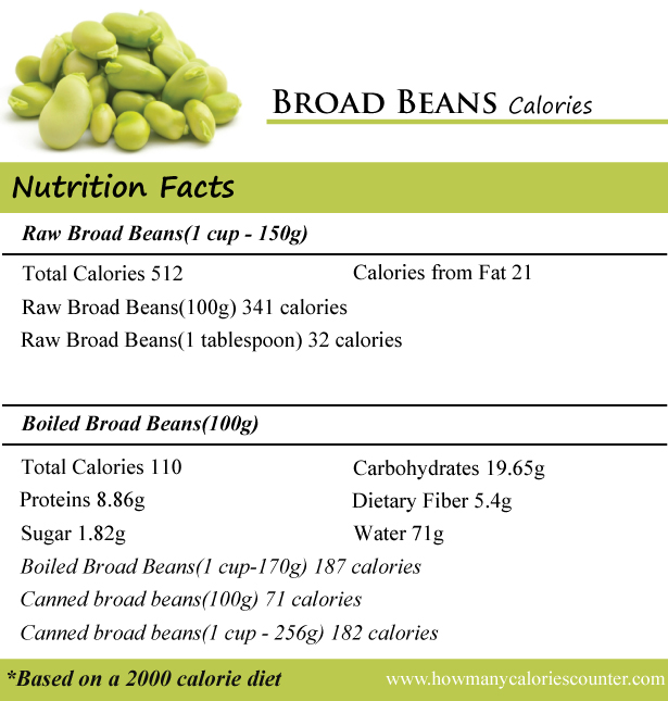 Broad Beans Calories