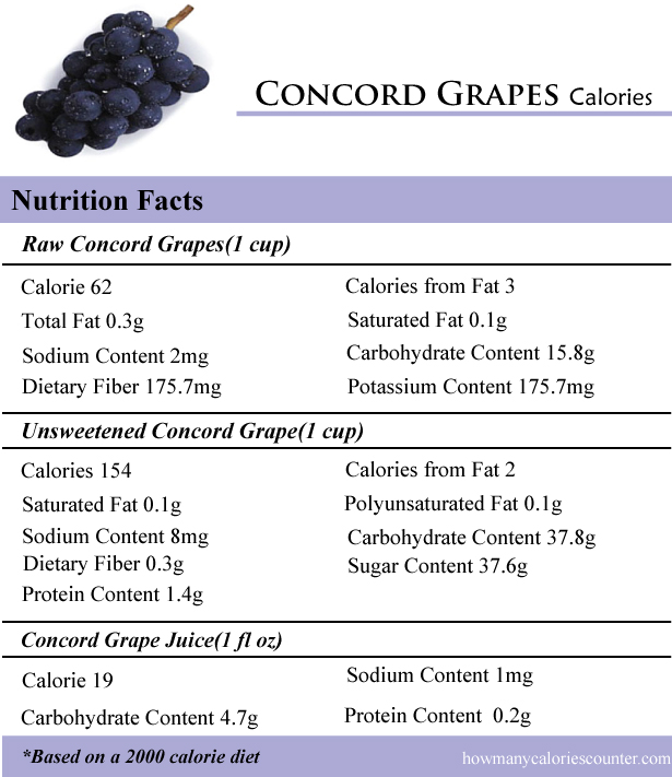 Concord Grapes Calories