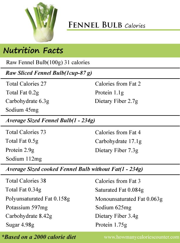 Fennel Bulb Calories