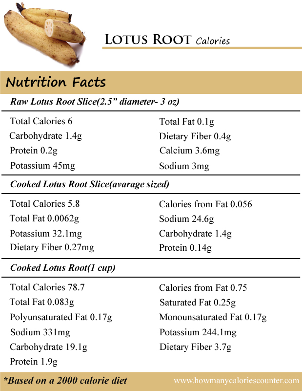 Lotus Root Calories