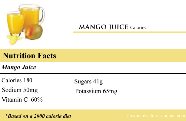calories in a mango juice