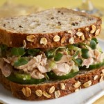Skinny tuna sandwich on sprouted grain bread