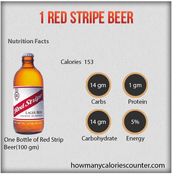 1 red stripe beer
