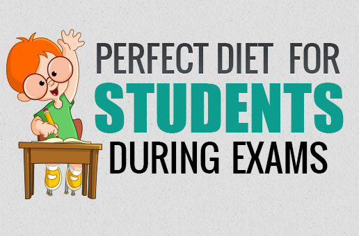 Perfect Diet For Students During Exams (infographic)