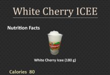 How Many Calories in a White Cherry ICEE