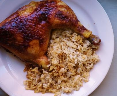 Brown rice with Chicken