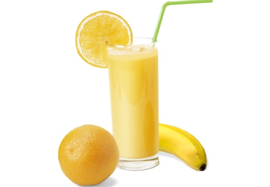 orange and banana smoothie