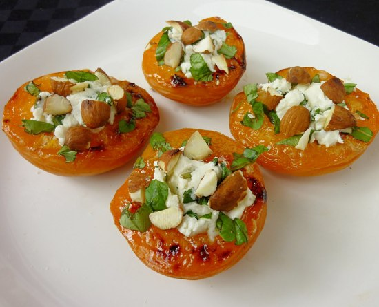 goat cheese stuffed apricots