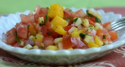 Grilled Mango with Salsa